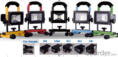 LED Flood Light 20W 110V 220V 240V 12V 24V Chargable Charging 20W LED Work Light