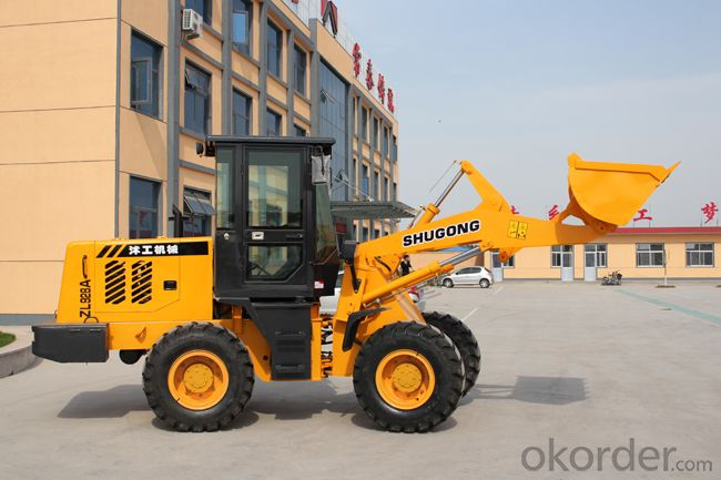 2 tons wheel loader with good attachments,zf automatic transmission