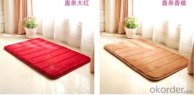 Super Soft Mat PVC Foam Anti-fatigue Microfiber Bath Mat
