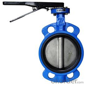 Pneumatic Double Flange Butterfly Valve,Ductile Iron Wafer Butterfly Valve