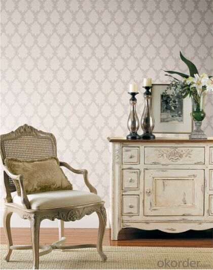 Non-woven Wallpaper Cheap Novelty Products Promotional Damask Wallpaper