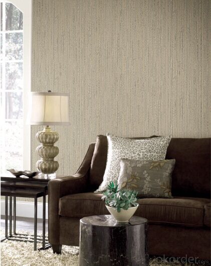 Non-woven Wallpaper Simple Design Breathable Used in Hotels