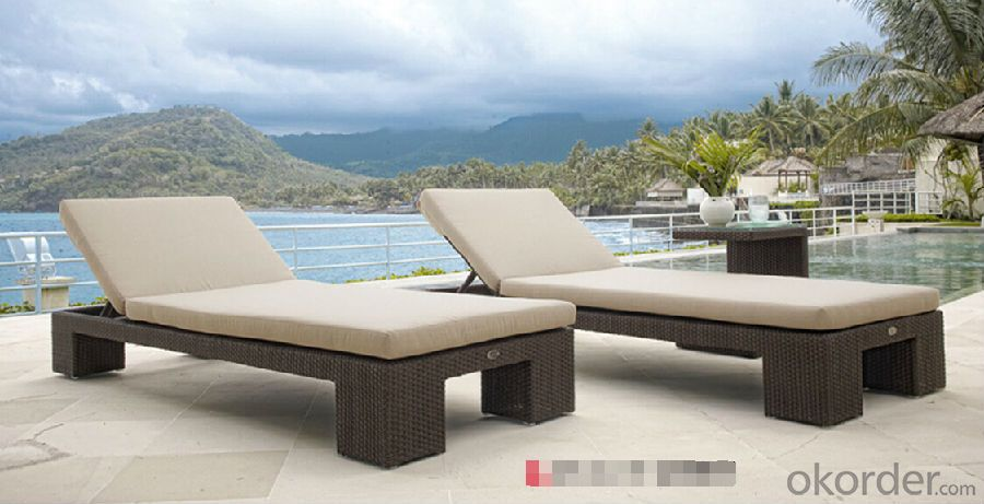 Outdoor  Rattan Sun lounger  Patio Sun Bed Wicker Furniture
