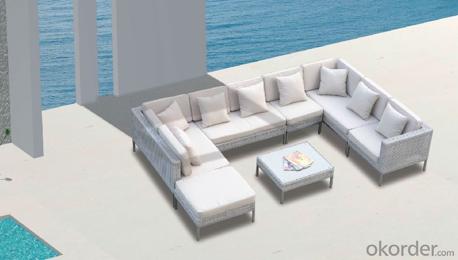 Outdoor Sofa with PE Rattan Aluminum Frame  CMAX-YT006