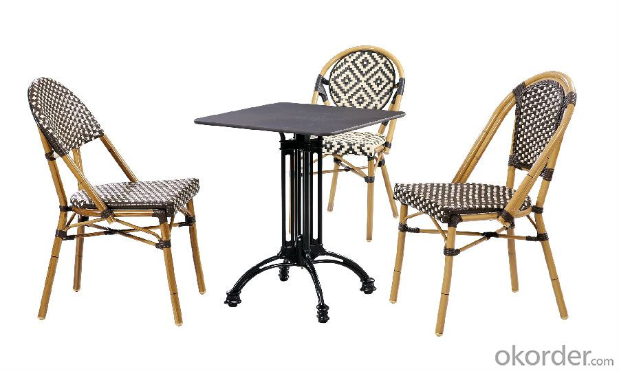 Outdoor Rattan Dining Table with Chair for Garden CMAX-SC014