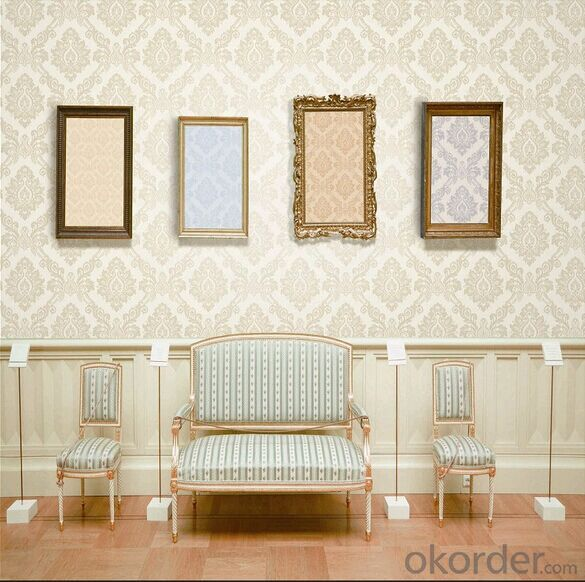 PVC Wallpaper Kertas Dinding Dalam Warna Biru Muda Wallpaper