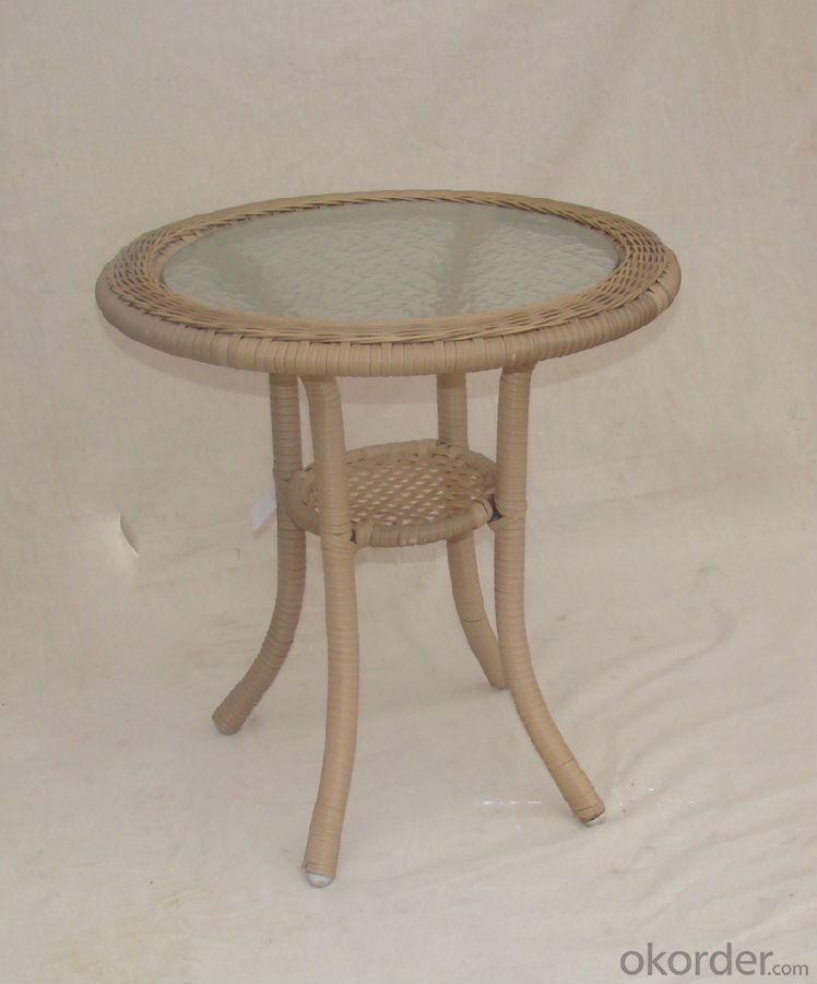 Outdoor Rattan Single Table with Chair for Garden CMAX-SC015
