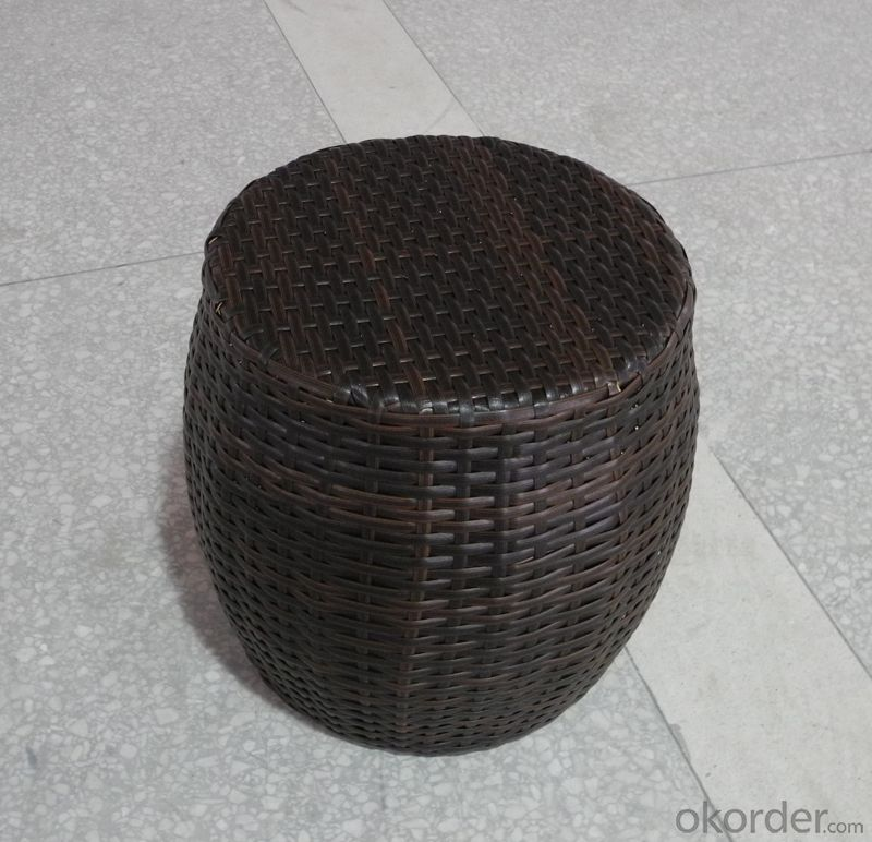 Outdoor Rattan Single Stool for Garden use Patio Furniture
