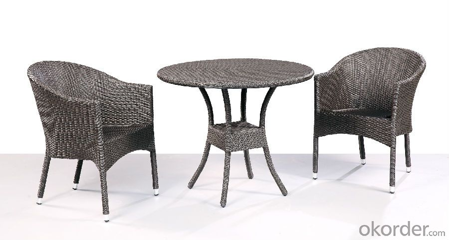 Patio Wicker Outdoor Rattan Single Table with Chair for Garden CMAX-SC010