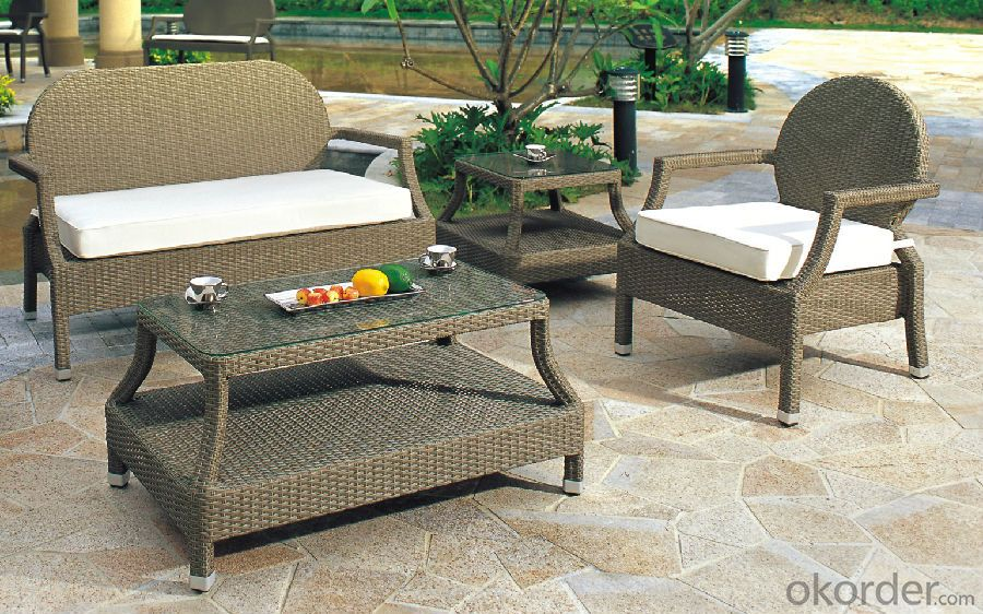 L Shape Garden Sofa PE Rattan with Aluminum Frame  CMAX-YT016