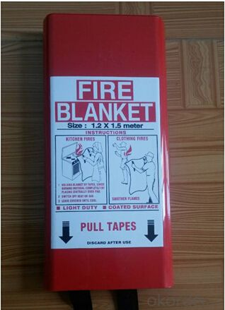 Fiberglass/Silicone Coated Insulation Fire Blanket