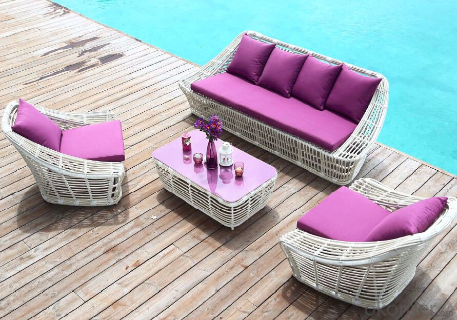 L Shape Garden Sofa Set for Fashion Design Outdoor Furniture Beach Furniture  CMAX-SS011MYX