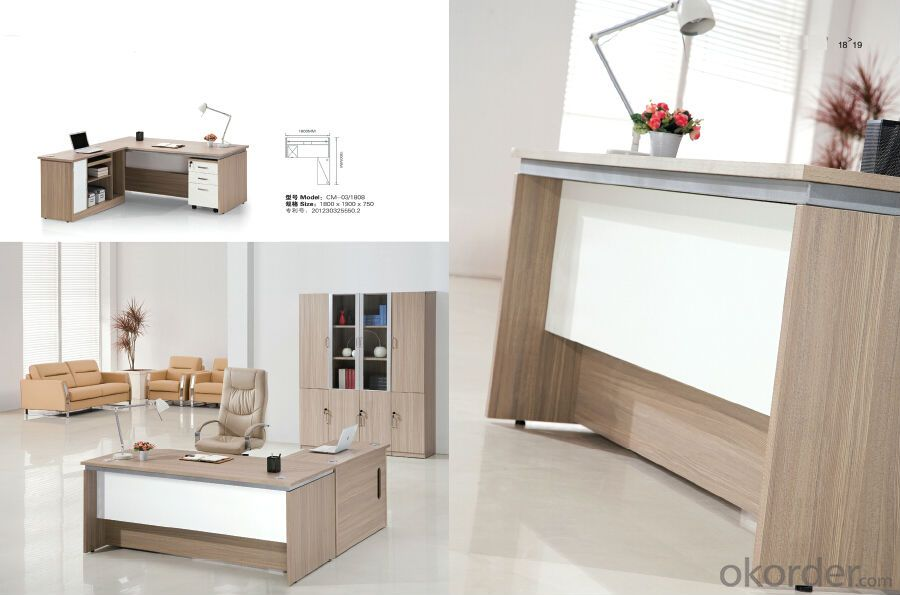 Office Table/Commerical Desk Solid Wood/MDF/Glass with Best Price CN303
