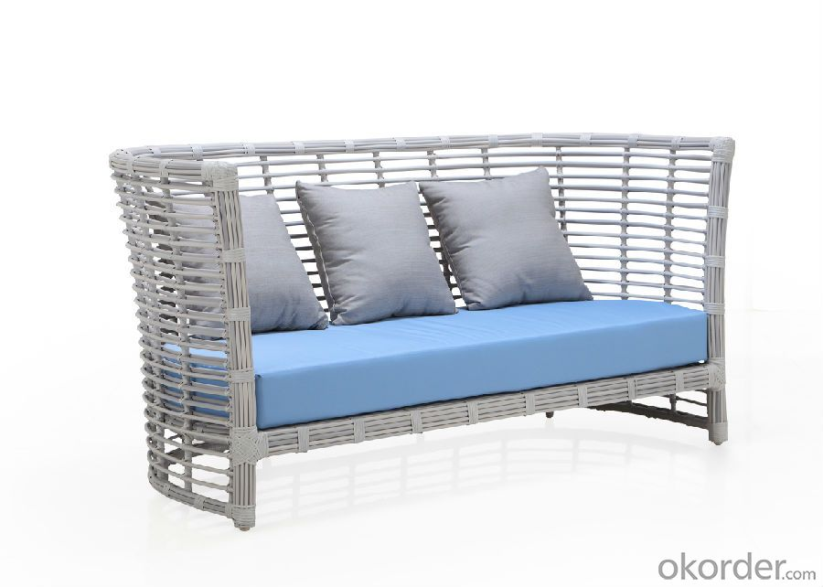 Round Rattan High Back Outdoor Sofa Set   CMAX-SS005LJY