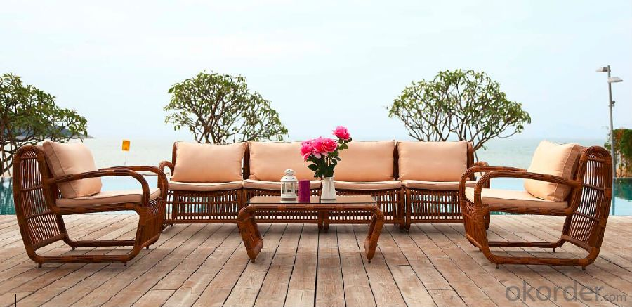 Round RattanGarden Sofa  for Outdoor Furniture CMAX-SS005MYX
