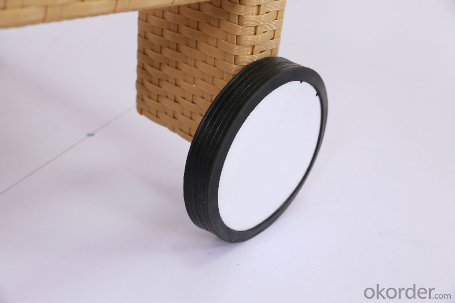Outdoor Sun Lounger with Wheel  for Garden and Beach CMAX-SL010LJY