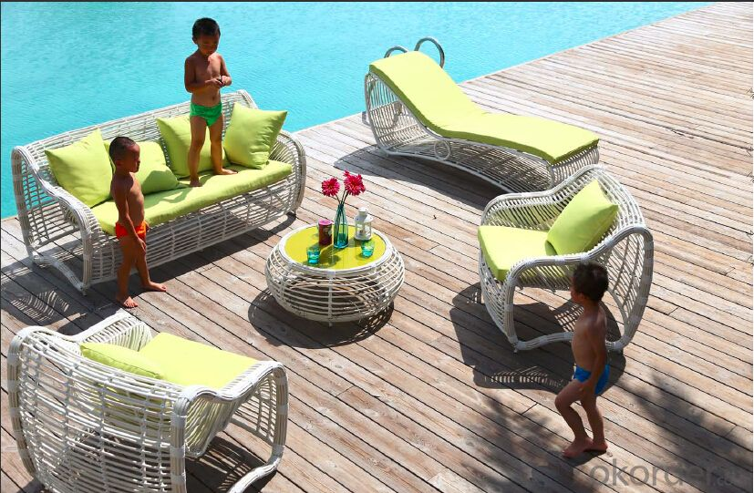 Garden Sofa   Round Rattan for Outdoor Furniture Beach Furniture  CMAX-SS007MYX