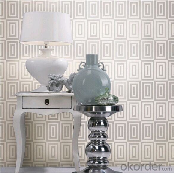PVC Wallpaper Genuine Victorian Gitter Silver Background Wall Roll Home Decor