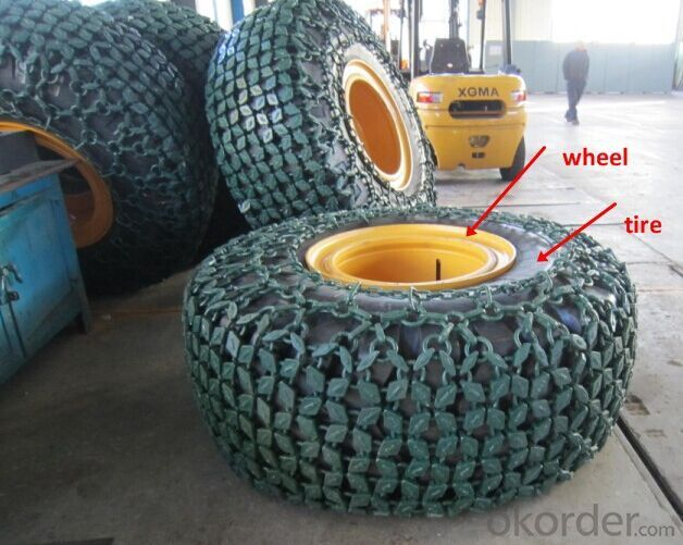 3t Wheel Loader Tires and Chain for Sale
