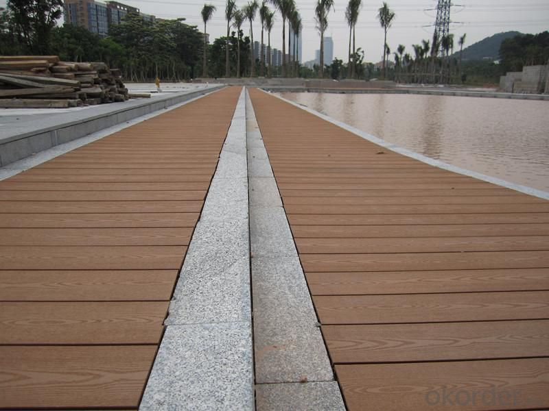 WPC decking/Factory price fire-resistant solid wood plastic composite