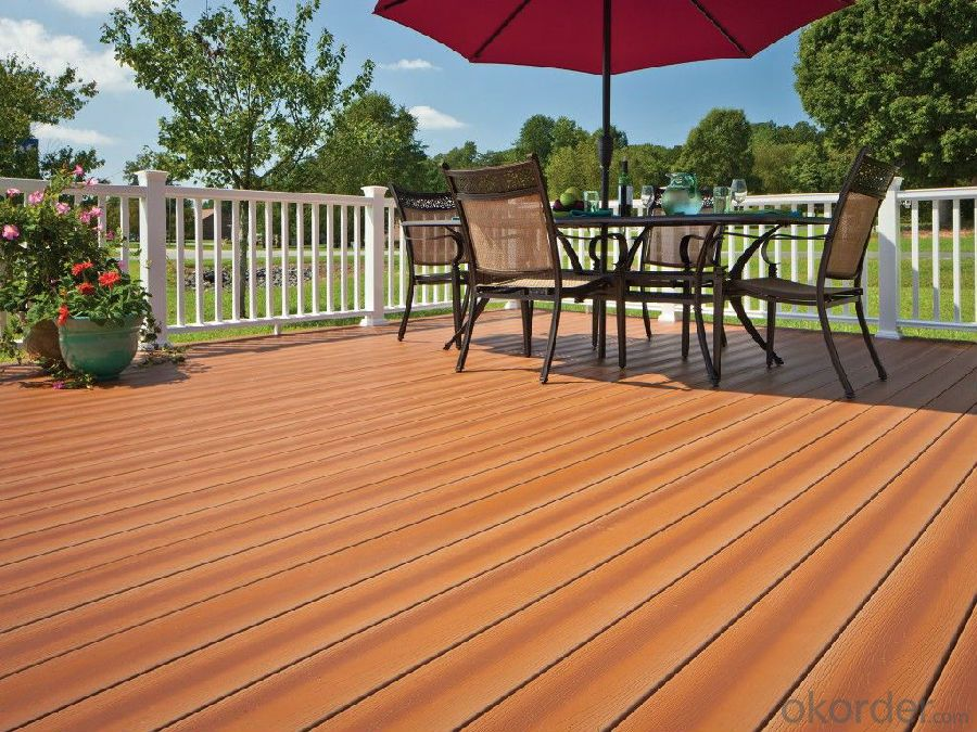 outdoor WPC wood flooring easy installed wpc composite decking