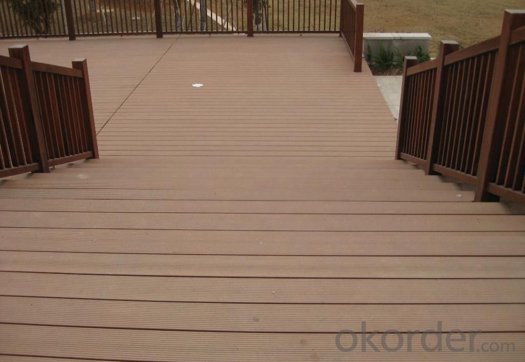 wpc decking crack-resistant outdoor co-extrusion