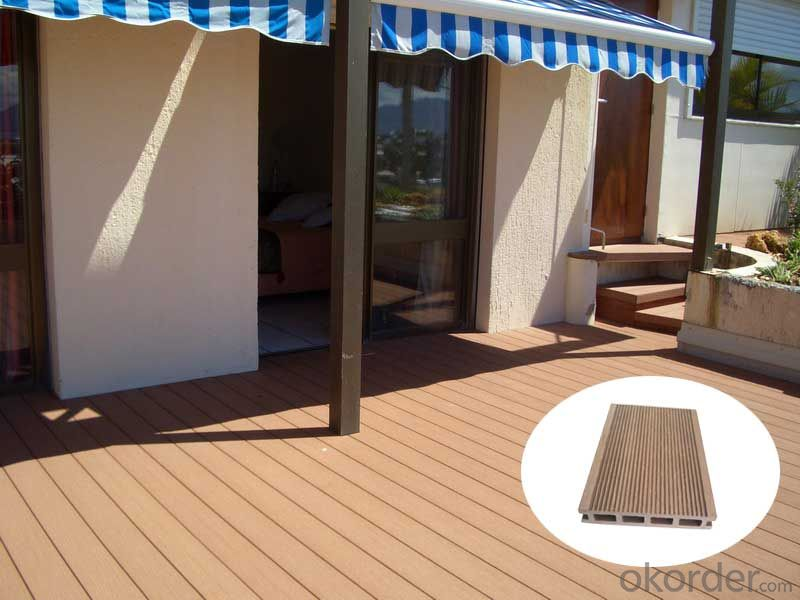 Wood plastic composite wpc decking for garden house