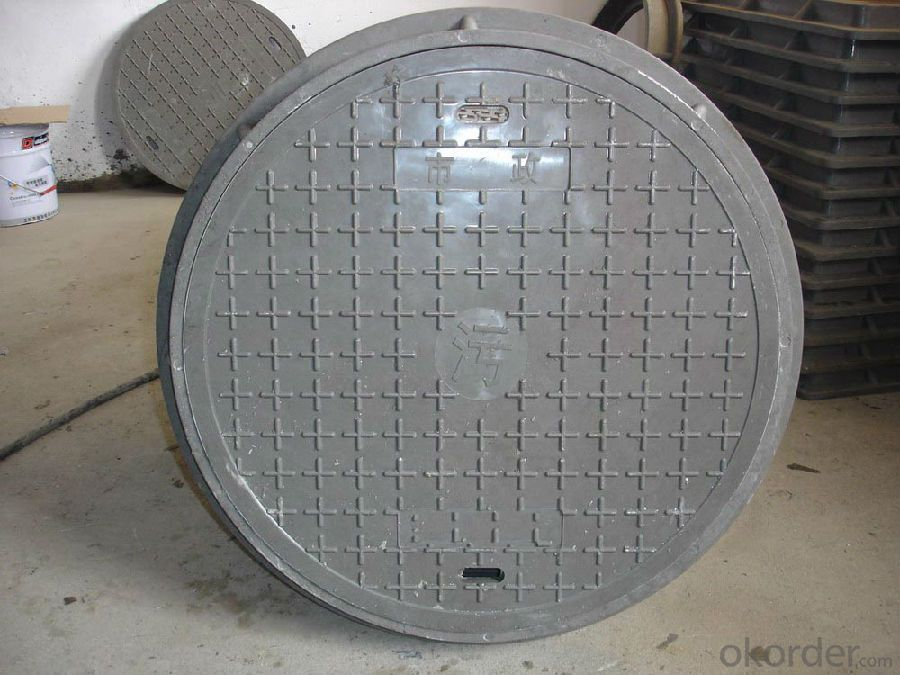 Manhole Cover Ductile Cast Iron Made in China Heavy Telecom Sew