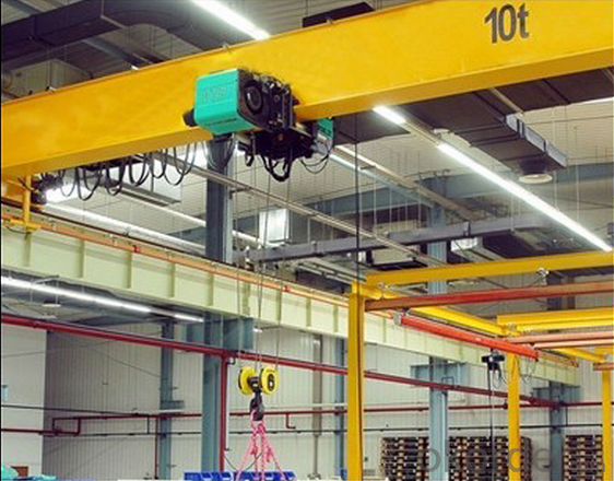 HD 10 Ton European Type Single Girder Overhead Crane