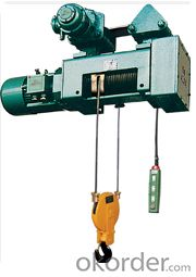 CE GOST Certificated high quality wire rope explosion roof electric hoist