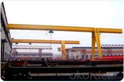 Single girder semi gantry crane used in warehouse or workyard