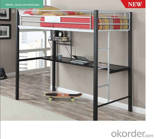 Metal Bunk  Bed with Workstation Modern design MB320