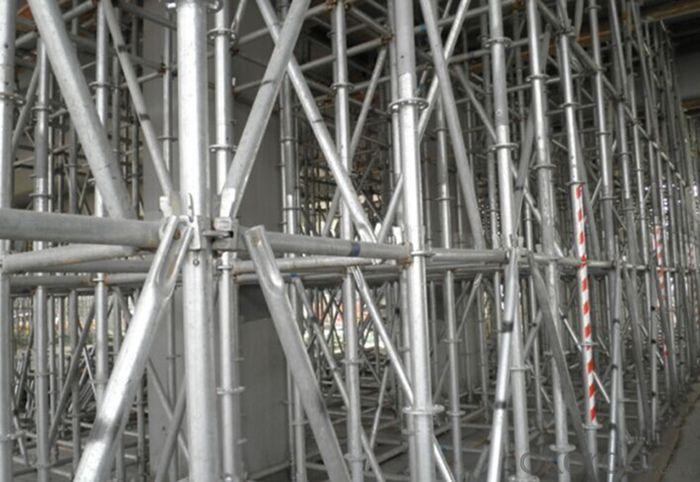 Ring Lock Scaffolding System for High-rise Buildings