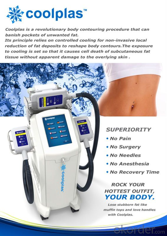 Coolplas Cryolipolysis fat freezing machine for body slimming