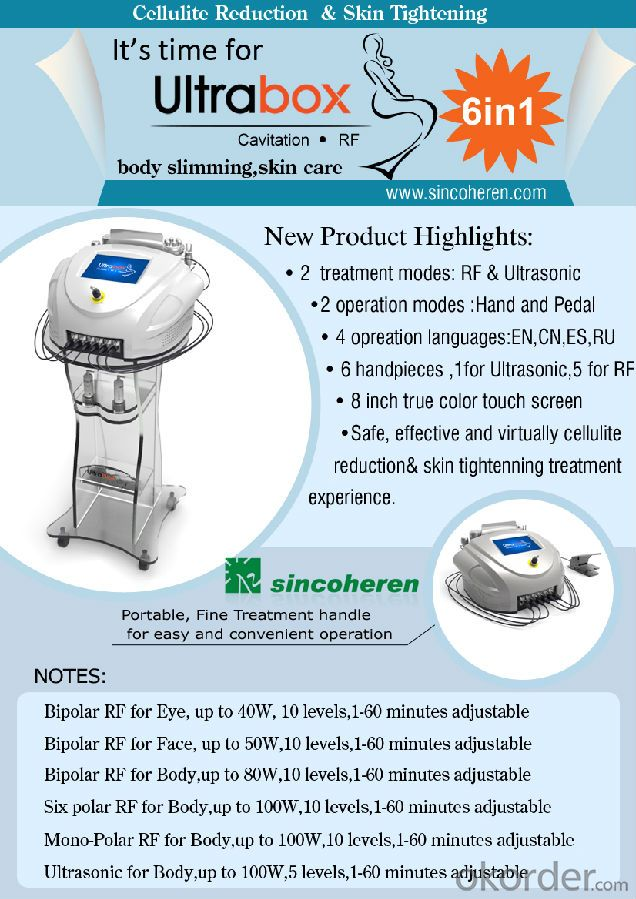 Cavitation RF Slimming Machine Made in China