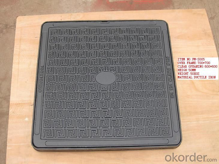 Manhole Cover Class/D400 Ductile Cast  Iron on Sale