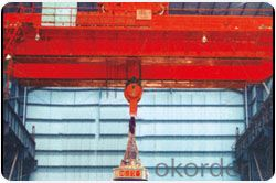 Steel scrap lifting electromagnet overhead crane for sale with incredible price