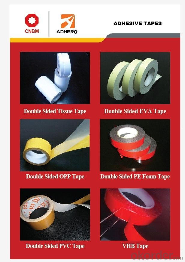 DS EVA Foam Tape Tapes Adhesive tape PET tapes Masking Tape for Packing