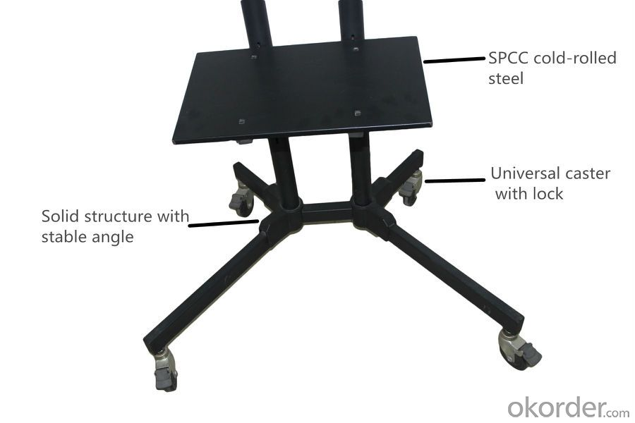 LCD LED Tv bracket TV Stand Mobile  TV cart with wheel