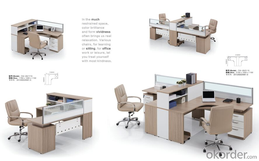 Office Desk Executive Table Commerical Table MDF/Glass with Low Price CN810