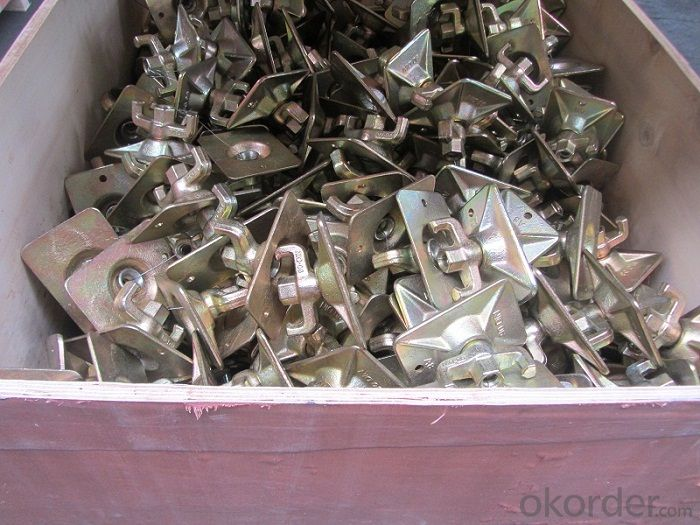Steel Galvanized Scaffolding  Forged  Formwork Nut with Square Plate