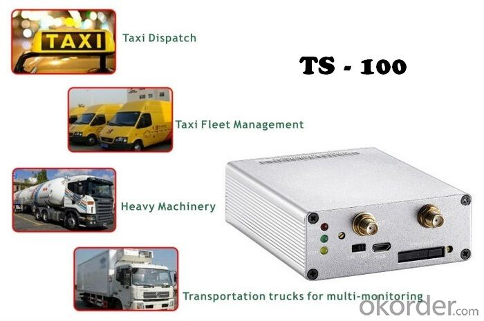 Multi-Functional Real-Time GSM/GPRS Vehicle GPS Tracker TS-100 with Free Android APP for Car/Fleet