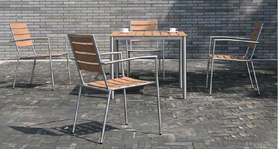Dinning set Plastic Wood Outdoor Furniture
