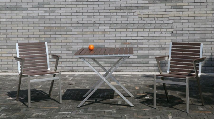 Outdoor Funiture with PS / WPS Plastic Wood