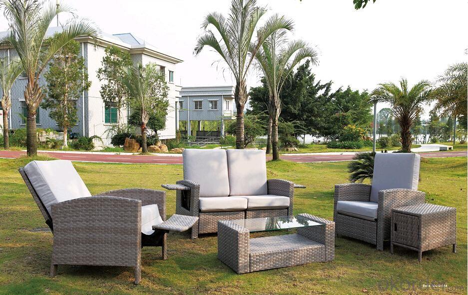 Outdoor Furniture Synthetic PE Rattan Garden Sofa Sets