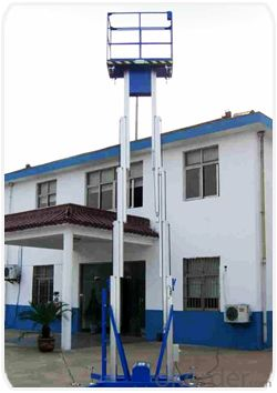 Very safety mast type aerial working platform