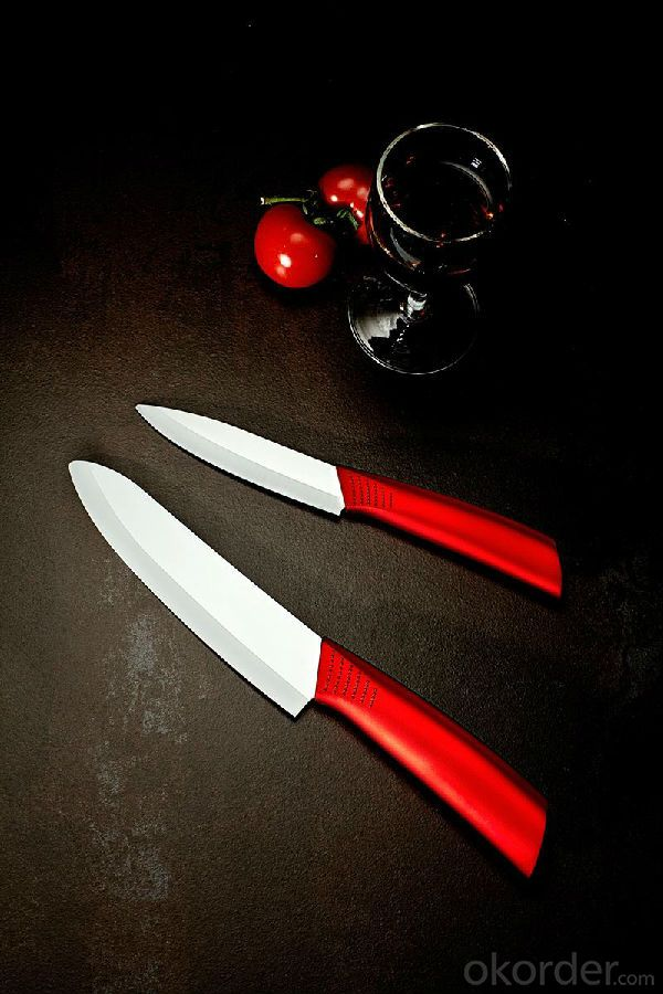 Ceramic Knife Sets with Wooden Handle and Wooden Block