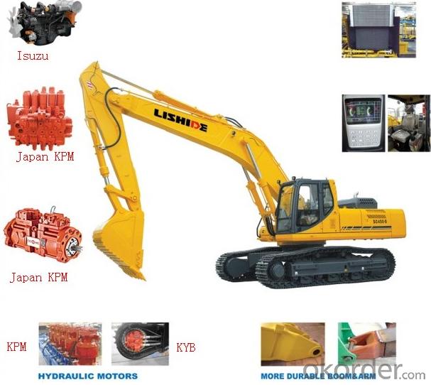 22 Ton Hydraulic Construction Machine Lishide Excavator - Sc220.8