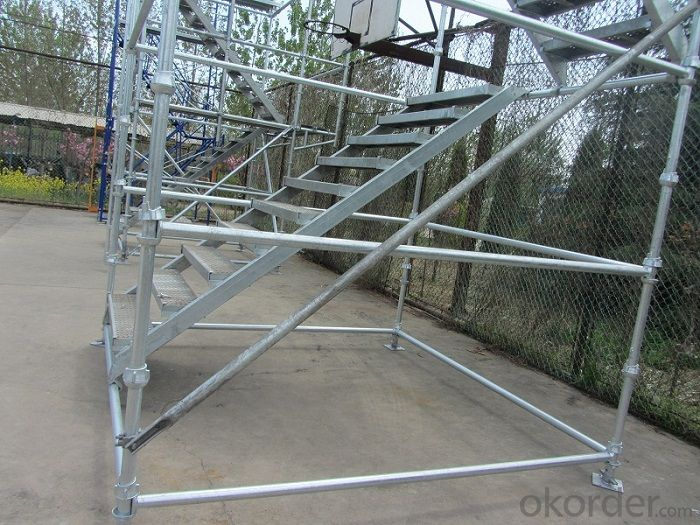 Galvanized Cuplock  System Scaffolding Ledger  for Construction