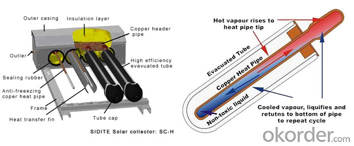 Heat Pipe Series for Solar Collector Model SC-H